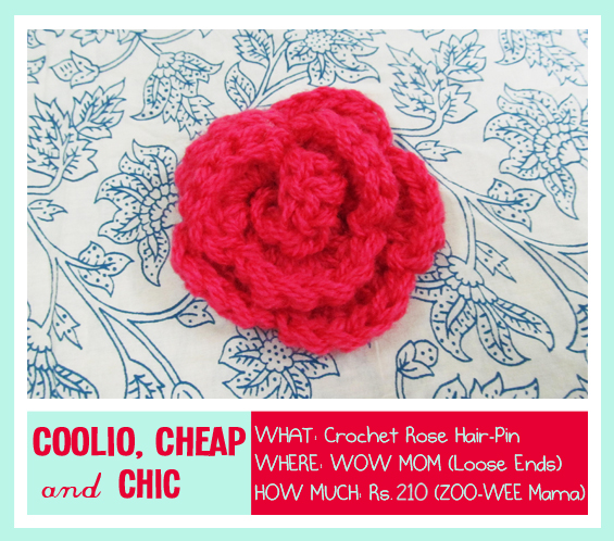 Crochet, Roses are Red, Wow Mom Hair Accessories, Flower Hair Accessories