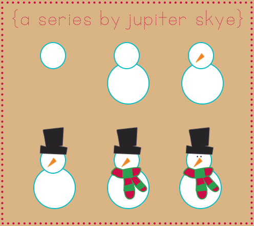 #HowToDraw, A Series by Jupiter Skye, The Snowman, Snowman, Late November, Snow, White, D.I.Y, Draw